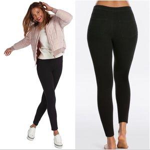 SPANX Black Jeanish Ankle Leggings Skinny Medium
